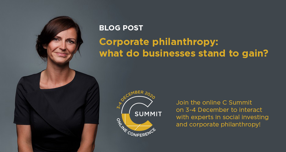 Corporate philanthropy: what do businesses stand to gain?